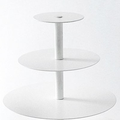 3 Tier Maypole White Cupcake Stand