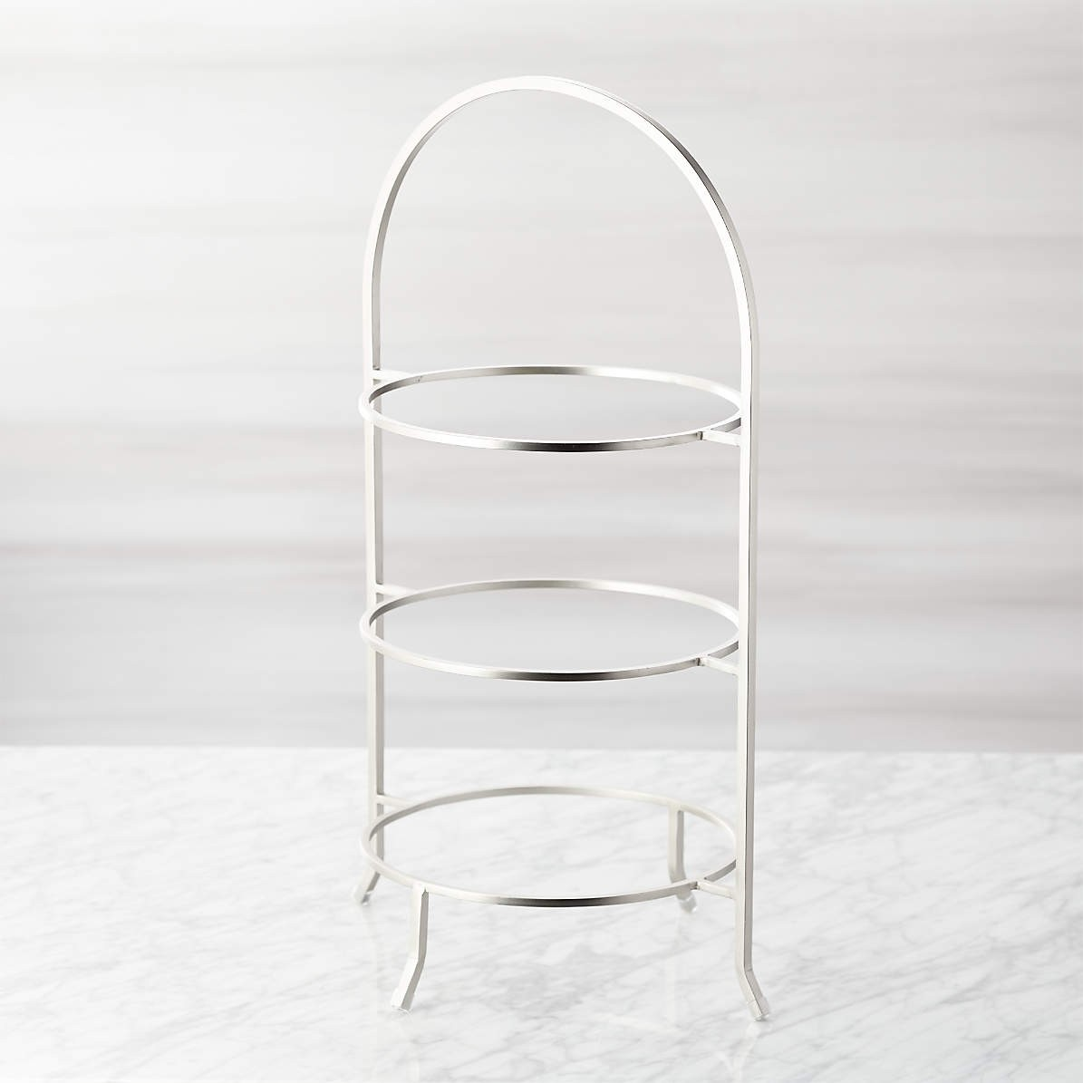 3 Tier Satin Stainless Steel Serving Plate Stands