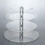 4 Tier Acrylic Round Maypole Cupcake Stand Tower Display