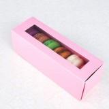 6 Pink Window Macaron Boxes($1.40/pc x 25 units)