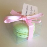 Clear Macaron Box for 1 Macaron($0.90/pc x 25 counts)