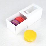 3 White Window Macaron Boxes($1.25/pc x 25 units)